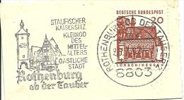 BRD Briefstuck Sonderstempel  Rothebburg Ab Der Tauber Staufischer Kaisersitz Kleinod Der Mittelalters Gastliche Stadr 2 - [7] West-Duitsland