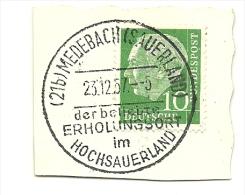 BRD Briefstuck Sonderstempel Medebach (Sauerland) Der Belebte Erholungsort Im Hochsauerland 23/12/1957 - [7] West-Duitsland