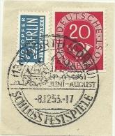 BRD Briefstuck Sonderstempel  Worth (Donau) Juni-august Schloss Festspiele 8/12/1953 - [7] West-Duitsland