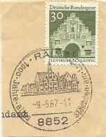 BRD Briefstuck Sonderstempel  Rain 8852 1000 Jahre Altes Stadtchen Am Lohr 9/5/1967 - Marcofilie - EMA (Printmachine)
