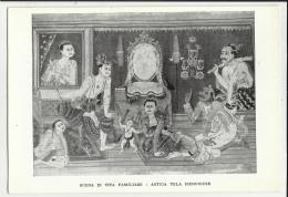 SCENA DI VITA FAMILIARE ANTICA TELA INDOCINESE  MUSEO D' ARTE E DI ETNOLOGIA ESTREMO ORIENTALE - Cartoline