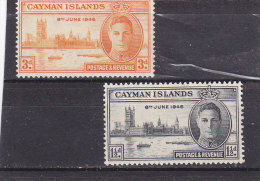 Cayman Islands  1946   Yt 116/17*    Vittoria - Joint Issues