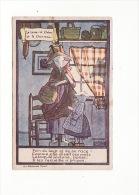 """Carte 1920 Signée Maggie Salzedo :fable :le Loup,la Chèvre Et Le Chevreau (au Dos Publicité Alcool """"ricqlès"""") - Andere Zeichner"""