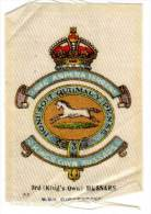 Kings Own Hussars, En Soie / Silk (Bdv Cigarettes)(croix De Guerre) - Documents