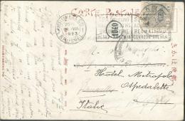 """8 Sen S/C.P. Obl. Locale 12-7-6 Sur C.V.  (Nippon Yusen Kaisha S.S.""""Shanghai Maru"""") Vers Bruxelles (14-VIII-1923), Biffé - Japon"""