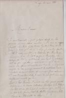 LETTRE DE J.ALEXANDRE  LIEGE 1883 - DONNANT DES INFOS SUR DIVERS PERSONNALITES DE BELGIQUE - 2 PAGES + SIGNATURE A VOIR