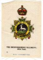 The Bedfordshire Regiment, En Soie / Silk - Documents
