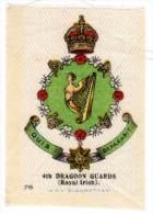 4th Dragoon Guards (Royal Irish), En Soie / Silk - Documents