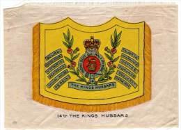 Drapeau, 14th The Kings Hussars, En Soie / Silk - Documents