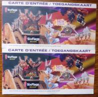 2 TICKETS SIX FLAGS-PARC ATTRACTION BELGIUM - Tickets D'entrée