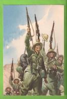 ILLUSTRATORE PISANI FANTI E CAMICE NERE COLONIALE CARTOLINA FORMATO GRANDE PROBABILMENTE VIAGGIATA IN BUSTA - Guerra 1939-45