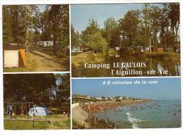 Aiguillon Sur Vie - Camping Le Gaulois Sur CD N°32 Les Sables Challans - Circulé 1984 - Non Classés