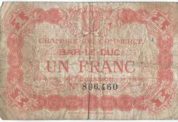 Ch. De Com. De BAR-LE-DUC /  1 Franc /  1914-18     BIL103 - Chambre De Commerce