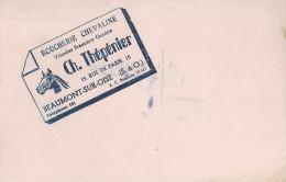 """Boucherie Chevaline  """"  Ch. Thépéniier  """"   Beaumont Sur Oise  ( 95 )      -   Ft  =  21 Cm  X 13.5 Cm - Milchprodukte"""