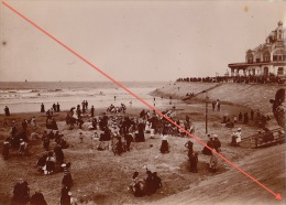 Photo Ancienne Mer Belge Bateau Plage à Ostende - Blankenberghe - Photos