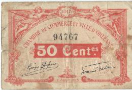 Ch. De Com. Et Ville D'ORLEANS / 50 Centimes / 1915    BIL104 - Chambre De Commerce