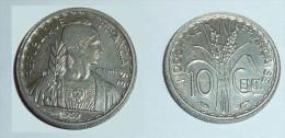 INDOCHINE 10 Cent MAGNETIQUE NICKEL 3g 1939, ETAT SUP PLUS (P-TURIN) - PIECE MONNAIE ARGENT, INDO-CHINE FRANCE COLONIES - Colonie