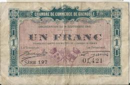 Ch. De Com. De GRENOBLE  / 1 Franc / 1916     BIL108 - Chambre De Commerce