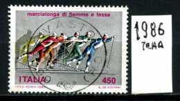 - ITALIA - REPUBBLICA - Serie Completa - Year 1986 - Marcialonga Di Fiemme - Viaggiato - Traveled - Reiste - 6. 1946-.. Repubblica