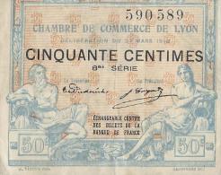 Chambre De Commerce De LYON/ 50 Centimes/1918     BIL110 - Handelskammer