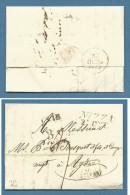 1829 LETTERA PREFILATELICA DA NIZZA A AGDE - TRANSITI E TASSAZIONI INTERESSANTI - 1. ...-1850 Prefilatelia