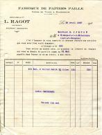 24.DORDOGNE.PAYZAC.FABRIQUE DE PAPIERS PAILLE.USINES DE VAULX & MALHERBAUX.DIEUAIDE & Cie.L.RAGOT Succ. - Imprenta & Papelería