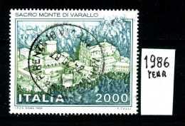 - ITALIA - REPUBBLICA - Serie Completa - Year 1986 - Sacro Monte Di Varallo - Viaggiato - Traveled - Reiste - 6. 1946-.. Repubblica