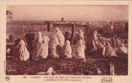 Morocco Rabat A Holiday In El-Alon Cemetery 1920s-30s - Rabat