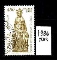 - ITALIA - REPUBBLICA - Serie Completa - Year 1986 - NATALE -scultura Di Donatello - Viaggiato - Traveled - Reiste - 6. 1946-.. Repubblica