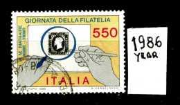 - ITALIA - REPUBBLICA - Serie Completa - Year 1986 - Giornata Della Filatelia - Viaggiato - Traveled - Reiste - 6. 1946-.. Repubblica