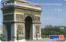 CARTE  PREPAYEE   DELTA  MULTIMEDIA  7,50e Travelex   Arc De Triomphe    **** - France