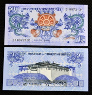 2006 Bhutan 1 Ngultrum. Asian Banknotes. New Uncirculated. UNC. 1PCS. - Bhutan