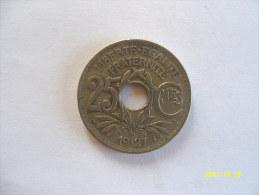 25 CENTIMES  1927 - Monnaies & Billets