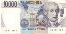 BILLETE DE ITALIA DE 10000 LIRAS DEL AÑO 1984 SERIE EB DE VOLTA  (BANKNOTE) - [ 2] 1946-… : República