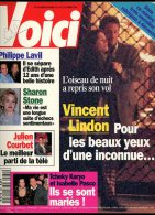 Voici 432 Vincent Lindon Tarantino Julien Courbet Sharon Stone Amazonie Philippe Lavil - People
