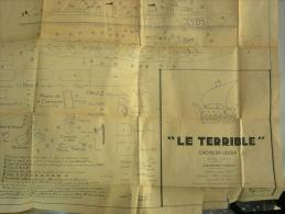 Plan De Maquette Modrena Navire Croiseur Léger LE TERRIBLE - Autres Collections