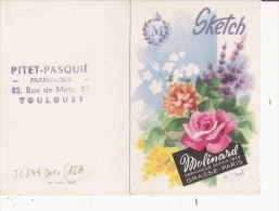 "MOLINARD CARTE PARFUMEE  CALENDRIER   ""SKETCH"" 1964 - Cartes Parfumées"