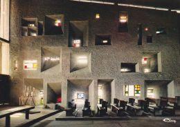 Cp , 70 , RONCHAMP , Chapelle De Notre-Dame-du-Haut ( Arch. Le Corbusier) , Le Mur Sud - France