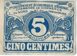 Chambre De Commerce Du Nord Et Du Pas-de-Calais//5 Centimes/1914-18   BIL117 - Handelskammer