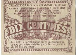 Chambre De Commerce Du Nord Et Du Pas-de-Calais/10 Centimes/1914-18   BIL118 - Chamber Of Commerce
