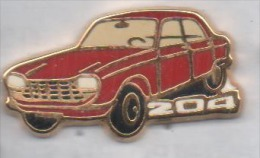Beau Pin´s En Zamac , Auto Peugeot 204 - Peugeot