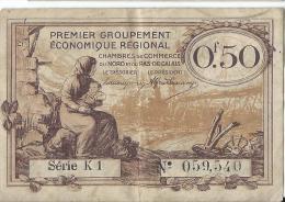 Chambre De Commerce Du Nord Et Du Pas-de-Calais/0,50 Francs/1914-18   BIL119 - Chambre De Commerce