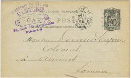 France:cp Pub .brasserie. 1898 - Werbepostkarten