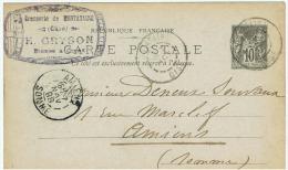 France:cp Pub .brasserie.  Gryson.montataire. 1898 - Werbepostkarten