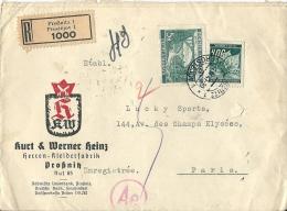Letttre  Recommandée De PROSTEJOV Pour La France 1941 - Bohême & Moravie