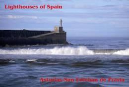 Lighouses Of Spain - Asturias/San Esteban De Pravia Postcard Collector - Faros