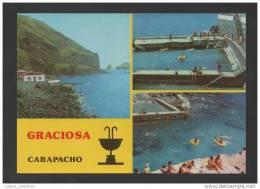 POSTCARD 1960years GRACIOSA AZORES TERMAS DO CARAPACHO SPA AÇORES PORTUGAL - Açores