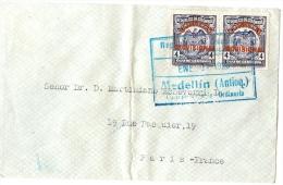 LBL20/5- COLOMBIE  LETTRE MEDELLIN / PARIS 11/1/1926 - Colombia