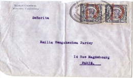 LBL20/5- COLOMBIE  LETTRE BOGOTA / PARIS MAI 1925(?) - SURCHARGE LEGEREMENT DEPLACEE - Colombia