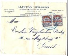LBL20/5- COLOMBIE  LETTRE BARRANQUILLA / PARIS JANVIER 1926 - Colombia